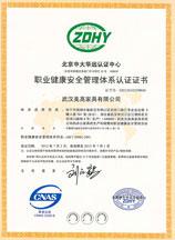ISO18001职业健康安全管理认证